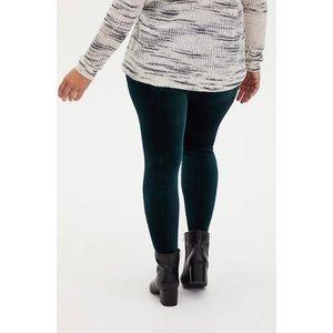 🆕Torrid Velvet Teal Platinum Legging 3X 22 24 NWT